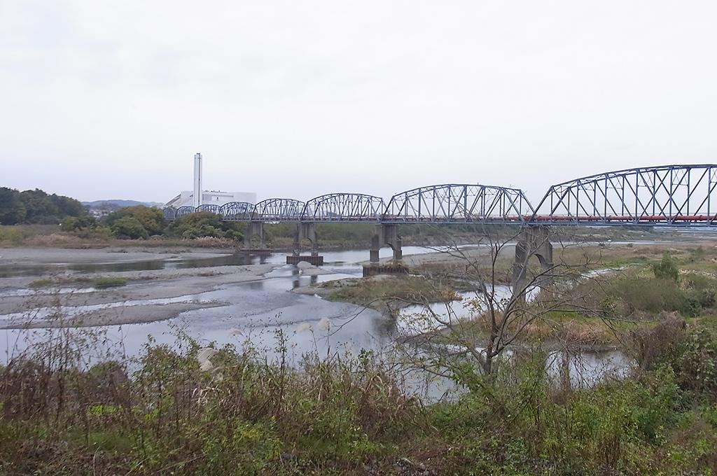 鳩川(有鹿河)の相模川への流入口域(有鹿郷)